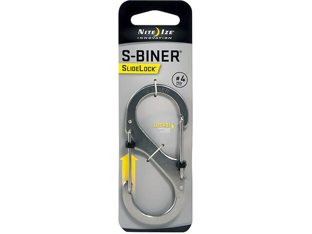 Nite Ize S-Biner SlideLock Carabiner #4 Stainless